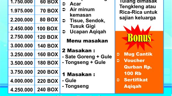 paket nasibox aqiqah solo